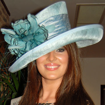 Aqua   Black Hat (special) Wedding Hat - SN845 6fc063248f2